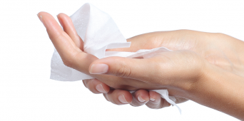 Product Feature:  Moist Towelettes