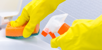 Product Feature:  Latex Heavy Duty Reusable Gloves